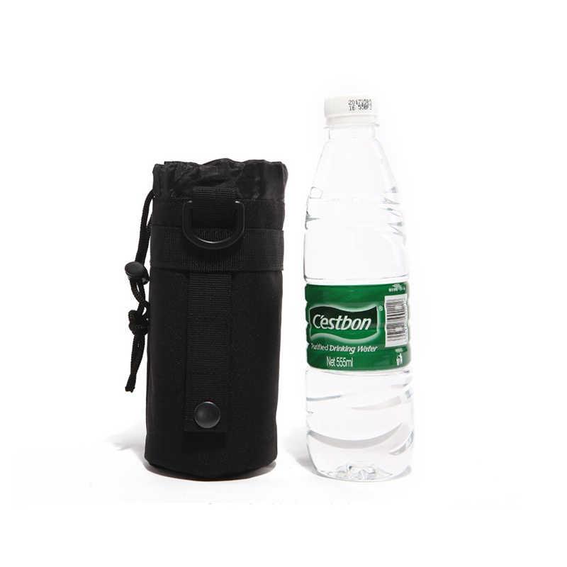 Kualitas Tinggi Outdoor Olahraga Perjalanan Botol Air Kantong Taktis Ketel Air Botol Tahan Lama Portabel Tentara Gear Tas