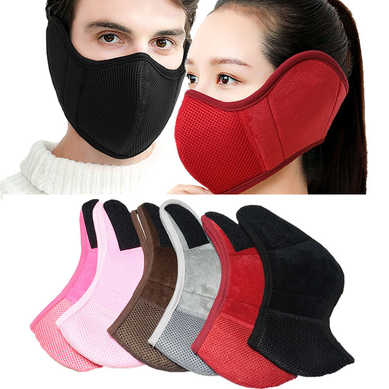 Dustproof Neoprene Neck Warm Half Face Mask Winter Accessories Windproof Bike Bicycle Cycling Snowboard Outdoor Masks Earmuffs