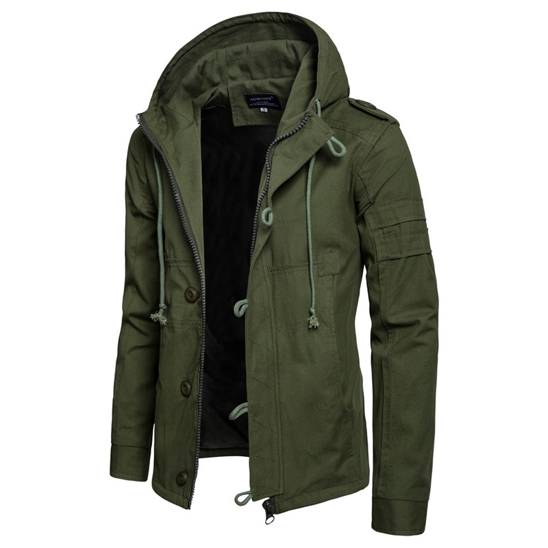 AKSR  Autumn And Winter New Men's Hooded Cotton Jacket Cardigan Sports Outdoor Jacket
