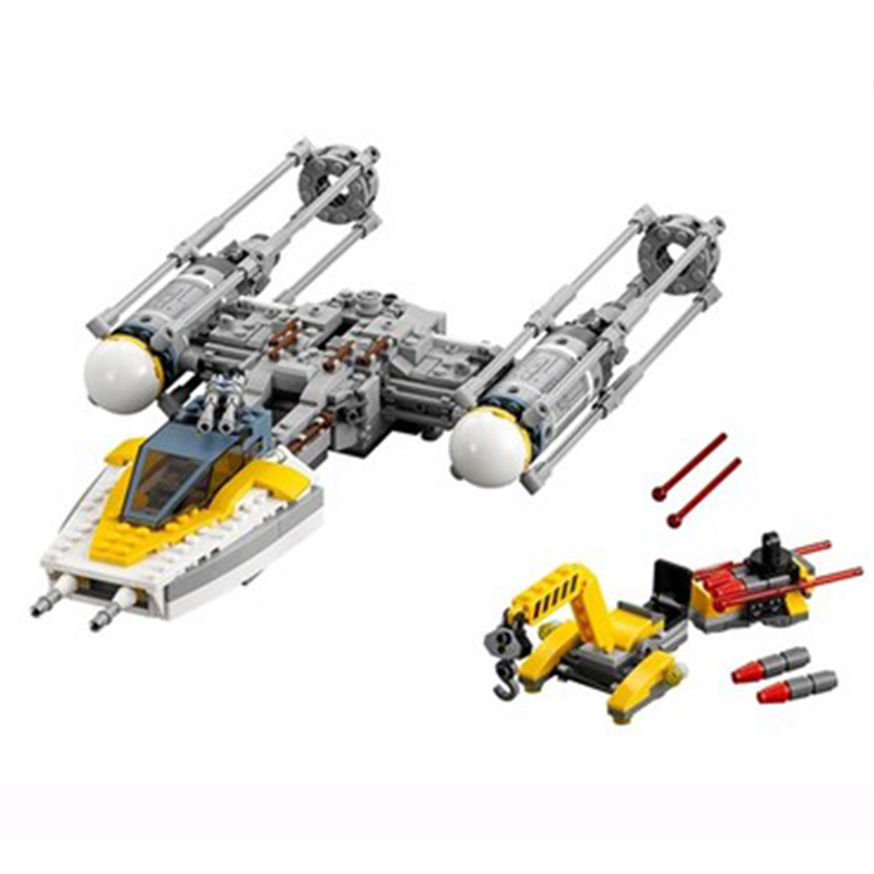 691pcs 05065 Space star Wars Y-Wing Stars fighters Universe Figure Model Building Block biick Teenager Set Game kids gift 75172 image