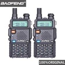 2 adet Baofeng UV 5R UHF VHF Walkie Talkie çift bant iki yönlü radyo Comunicador araç radyo istasyonu PTT Baofeng UV 5R UV 5R Woki Toki