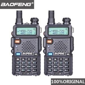 Image 1 - 2 pezzi Baofeng UV 5R UHF VHF Walkie Talkie Dual Band Radio bidirezionale Comunicador autoradio stazione PTT Baofeng UV 5R UV 5R Woki Toki