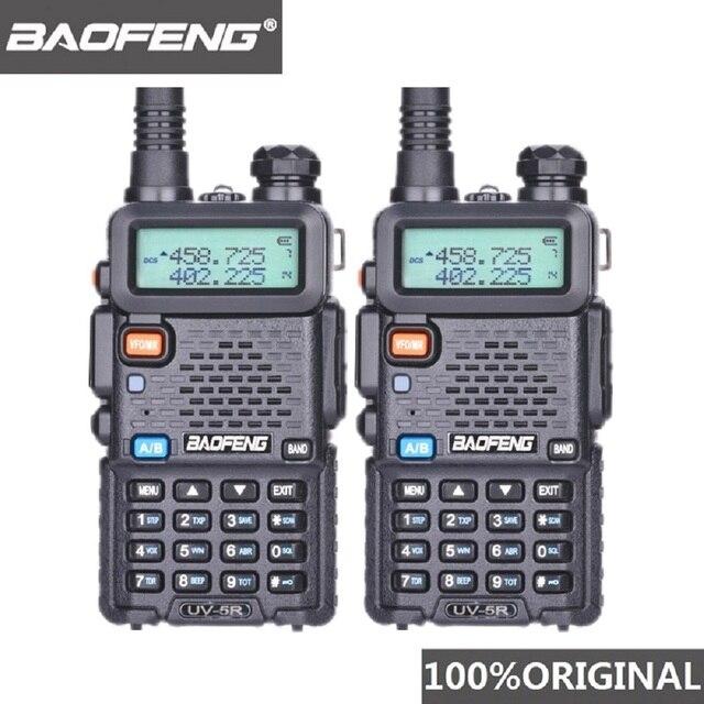 2 pezzi Baofeng UV 5R UHF VHF Walkie Talkie Dual Band Radio bidirezionale Comunicador autoradio stazione PTT Baofeng UV 5R UV 5R Woki Toki