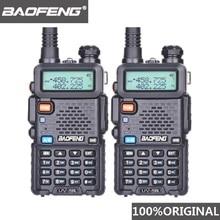 2Pcs Baofeng UV 5R UHF VHF 워키 토키 듀얼 밴드 양방향 라디오 Comunicador 자동차 라디오 방송국 PTT Baofeng UV 5R UV 5R Woki Toki