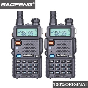 Image 1 - 2Pcs Baofeng UV 5R UHF VHF Walkie Talkie Dual Band Two Way Radio Comunicador Car Radio Station PTT Baofeng UV 5R UV 5R Woki Toki