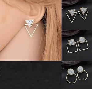 DHL 1000pair Fahsion Geometry Round Square Bohemian Craft Earrings