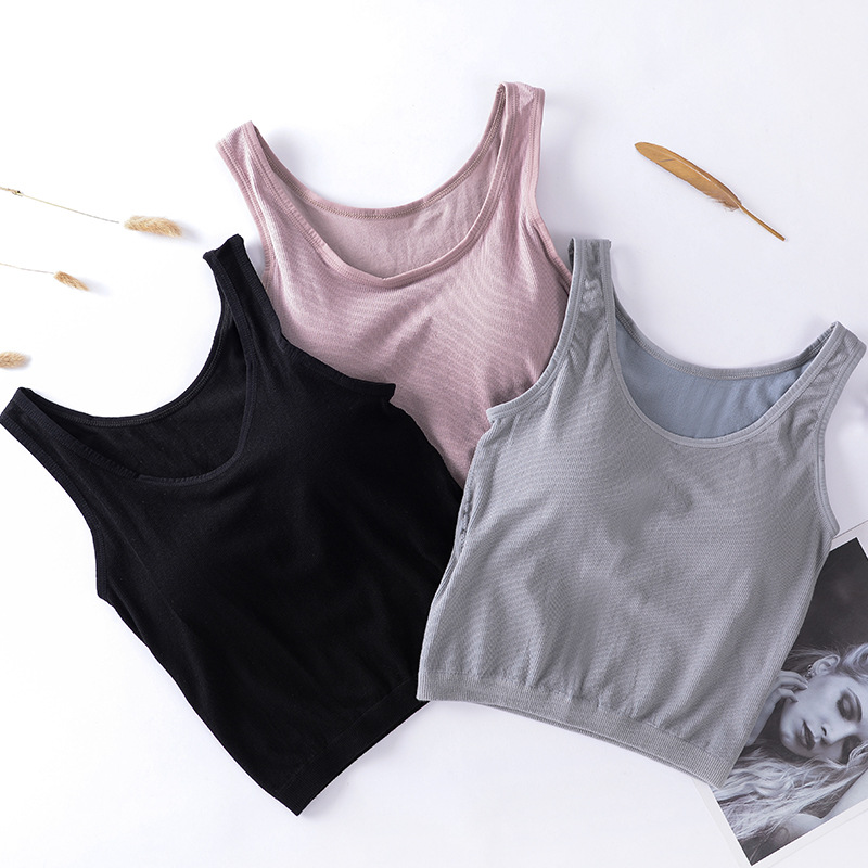Sexy Women Tanks Top Knit Camisole Sleeveless Camis T-Shirt Crop Top Female Vest Sexy Cropped Camis Tee Tanks Top