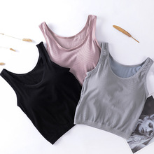 Sexy Women Tanks Top Knit Padded Camisole Female Lingerie Sleeveless Camis T-Shirt Crop Top Vest Sexy Camis Tee Tanks Top