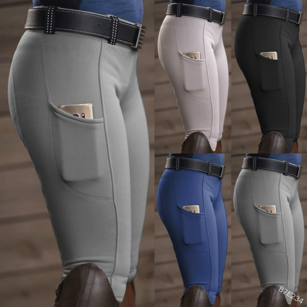 ZCXQM Horse Riding Breeches Solid Color Stretch Pants European and American Nobles Mountaineering Camping Outdoor RidingTrousers