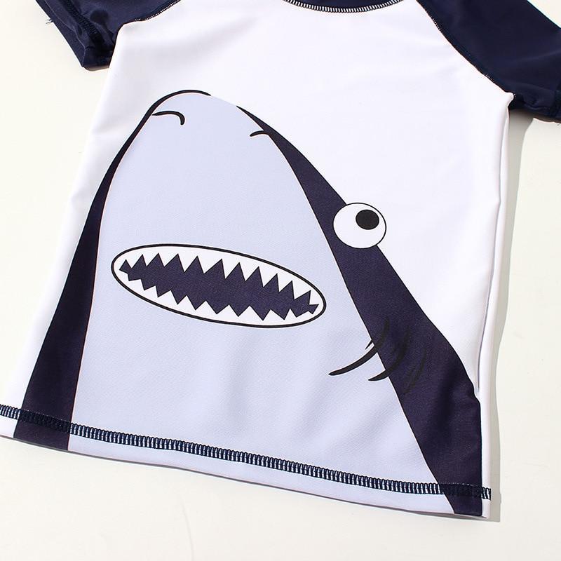 New Style South Korea CHILDREN'S Swimwear Split Male Baby Children Infants Tour Bathing Suit Cartoon Shark Young Children Bathin