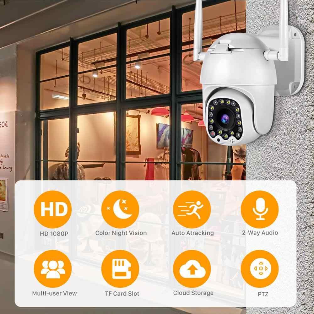 Besder 1080P Wifi PTZ IP камера наружная сигнализация с сиреной светильник облако Авто слежение домашняя камера безопасности Видеонаблюдение CCTV
