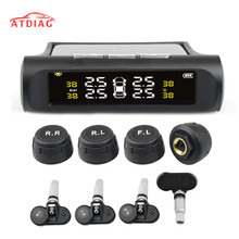 Solar Power USB TPMS Car Tire Pressure Monitoring System LCD 4 External / Internal Sensors for  SUV Temperature Warning