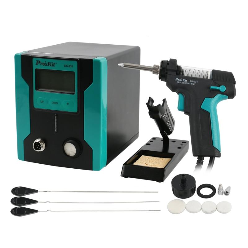Pro'sKit SS-331B LCD Electric Desoldering Gun Vacuum Solder Sucker Soldering Iron Gun For PCB Board Soldering Repair