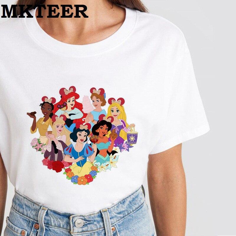 Women's 2019 New Camiseta Mujer Harajuku T Shirt Minnie Princess Kawaii Aesthetic Casual Summer Fashion Vogue Ulzzang Tops
