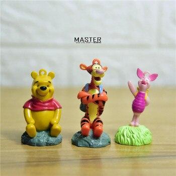 12 stück 5-6cm winnie the pooh die nette pooh bär tigger Ferkel schwein pvc figuren spielzeug Cartoon figuren tun modell ornamente
