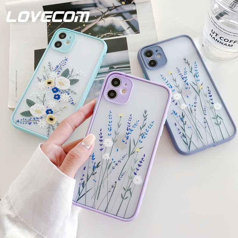 Per iPhone 12 Pro Max custodia fiore foglia custodie per telefono per iPhone 11 Pro Max XR XS Max 6 7 8 Plus X Cover posteriore morbida Coque