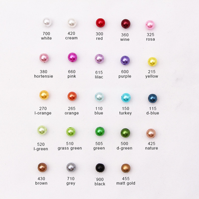 100pcs 4/6/8/10/12/14mm  HOLE White DIY Imitation Garment Beads Pearl ABS loose Round Beads Craft For Fashion Jewelry Making