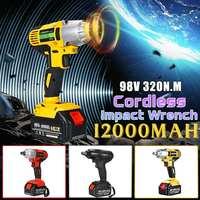 98VF 320NM akumulatorowy klucz elektryczny gniazdo udarowe klucz 12000mAh Li akumulator ręczny wiertarka moc instalacji narzędzia w Wkrętarki elektryczne od Narzędzia na