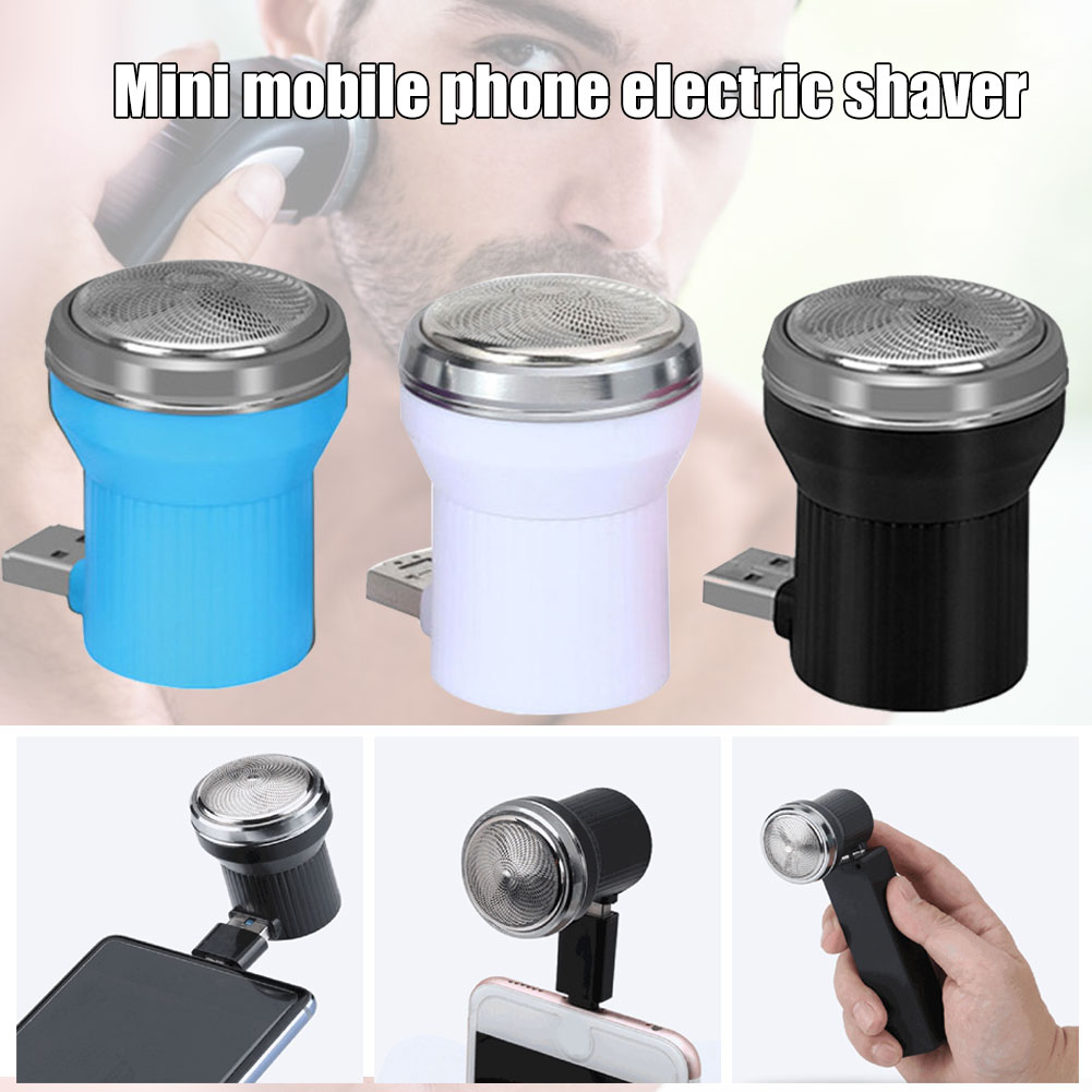 High Quality Mini Mobile Phone Fasting Beard Shaving Home Car Portable Small USB Razor Promotion Price