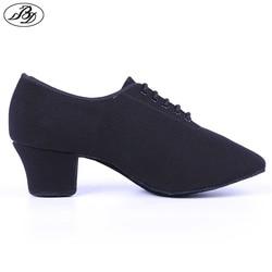 Dancesport sapato bd dança t1 mulher ensino sapatos de dança lona senhoras sapatos de dança salão sapatos padrão