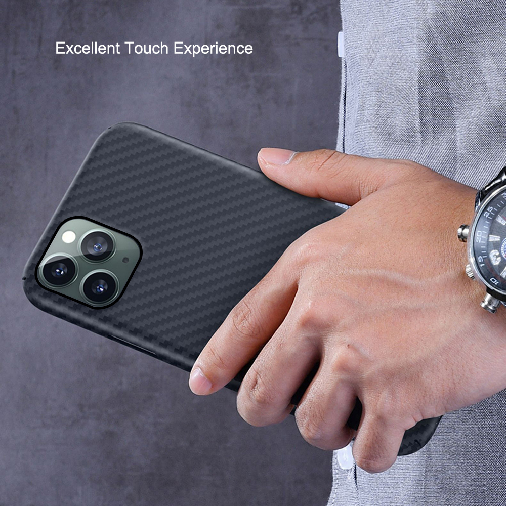 Image 5 - 0.7mm Ultra Thin Luxury Carbon Fiber Pattern For iPhone 11 Pro  Max Case Cover Aramid Fiber Case For iPhone 11Pro XS Max XR XFitted  Cases