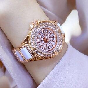 Image 2 - Reloj de moda Para Mujer, de cuarzo, con diamantes de imitación, femenino