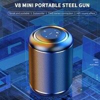 MC-V8 Mini hoparlör taşınabilir bluetooth'lu hoparlör güçlü bas kablosuz sütun USB AUX TF açık Subwoofer hoparlör ses kutusu