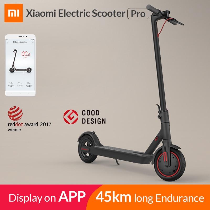 2019 Xiao mi mi mi jia M365 Pro Inteligente Scooter Elétrico E Scooter Longboard Skate Hoverboard mi ni Dobrável Adulto 45km Bateria
