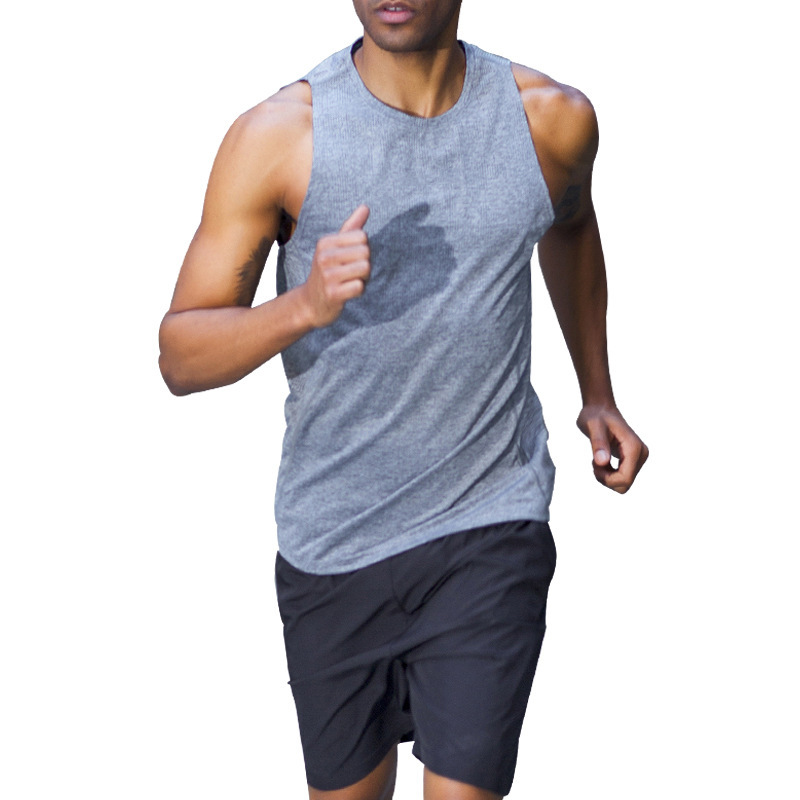 Men's 2020 Summer Running Suit Sleeveless+Shorts Gym Fitness Breathable Soft Jogging Training Set Men Sport Clothes