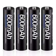 PALO 4pcs 1.2V 600mAh Battery AAA Rechargeable Ni-MH Batteries with Cryogenic Exhaust Valve for Remote Control Digital Products