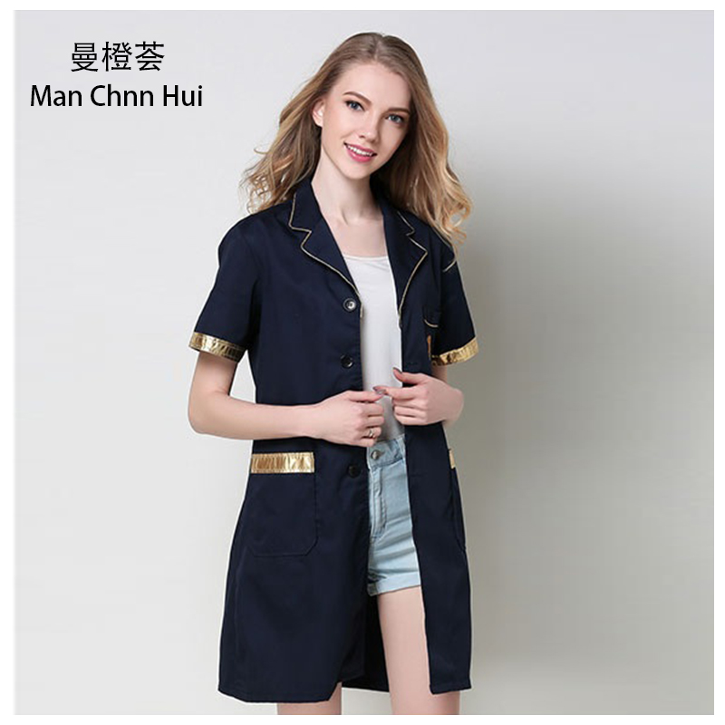 Medical robe lab coat hospital male and female work uniforms Korean cosmetic surgery sale beauty salon uniform pharmacy clothing image