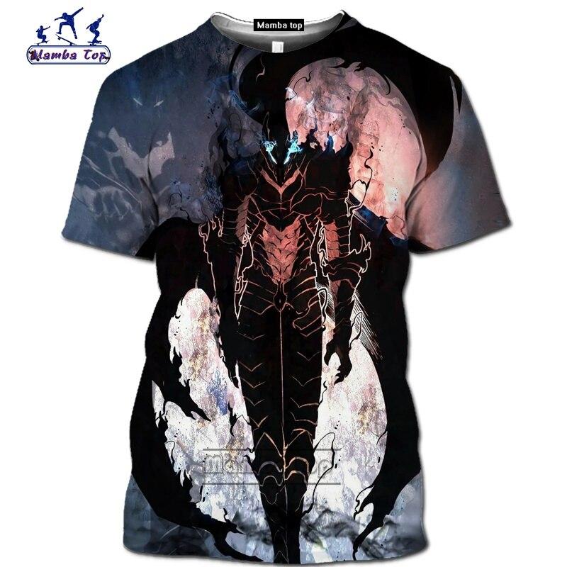 Mamba top Hot Comic Solo Leveling shirt homme fashion funny men T-Shirts 3D Anime Harajuku Jin-woo tee Short sleeve Streetwear (2)