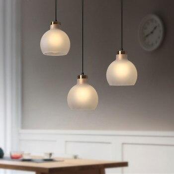 Aisilan LED comedor lámpara nórdica artística colgante de cristal luz Bar minimalista estudio café lámpara para colgar lámpara