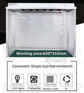 Image 5 - הכי חדש אבק משלוח חדר שולחן ניקוי אנטי סטטי אלומיניום סגסוגת אבק משלוח ספסל עבור LCD שיפוץ טלפון תיקון ציוד