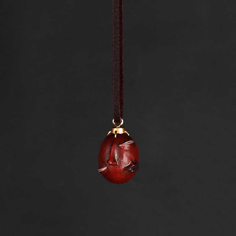 Collier Berserk-collier Behelit, Version 2013, avec bande de corde de daim, du faucon, noferatu, Zoddo