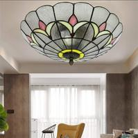 Tiffany Ceiling Light Balcony Aisle Porch Light Restaurant Living Room Light E27 Stained Glass Ceiling Lights 20inch