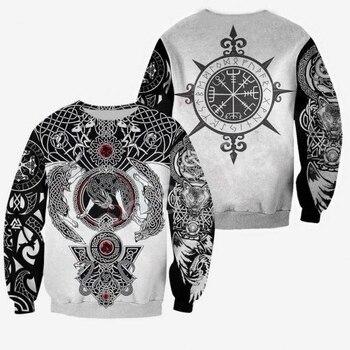 LIASOSO Unisex Viking Tattoo Art New Fashion MenWomen HipHop 3D Print Sweatshirts/Hoodie/Jacket Harajuku Casual Style