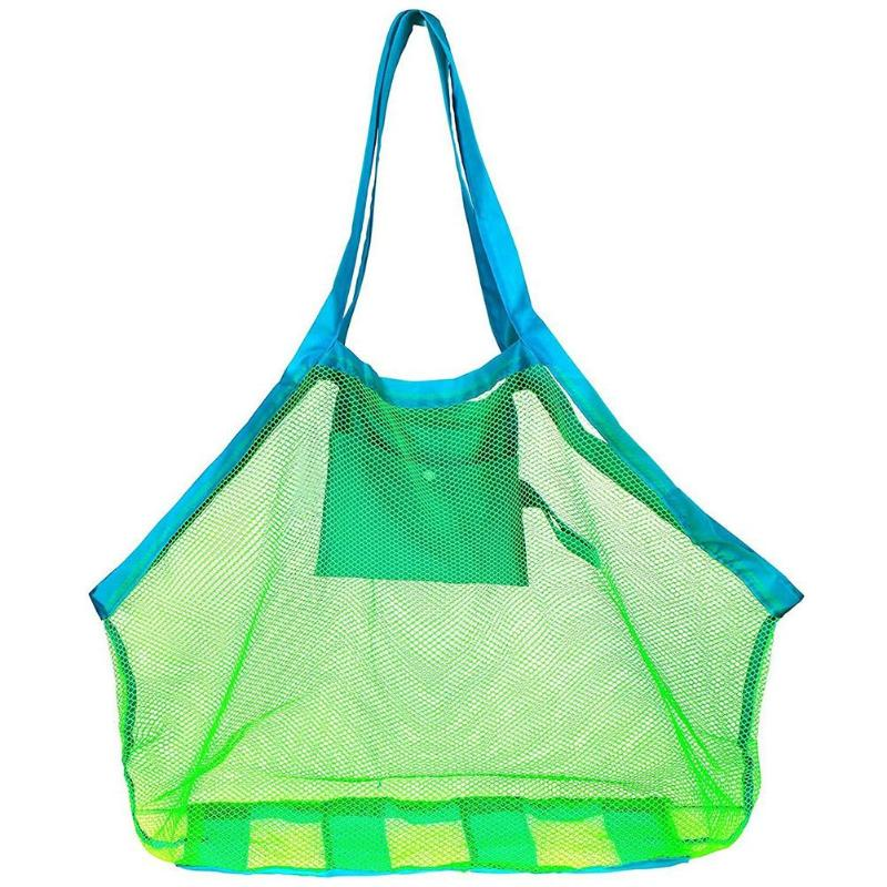 Portable Mesh Bag Kids Beach Toys Clothes Towel Bag Baby Toy Storage Bag
