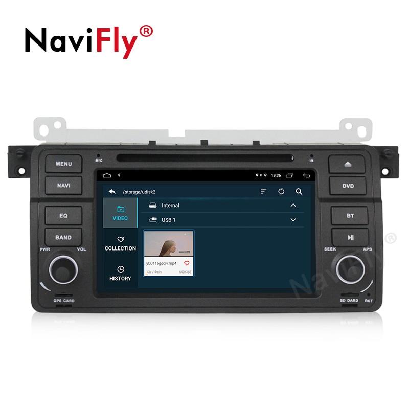 NaviFly Android 9.1 autoradio dvd gps pour BMW série 3 E46 M3 1998 2005 système stéréo unité de tête WIFI BT 2 + 32G lecteur multimédia - 4