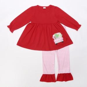 Image 2 - תינוקת חליפת בגדי יילוד תינוקות סטי תינוק בנות להלביש תלבושת בגדי סתיו אביב פעוט סט ילדי תלבושות חג המולד