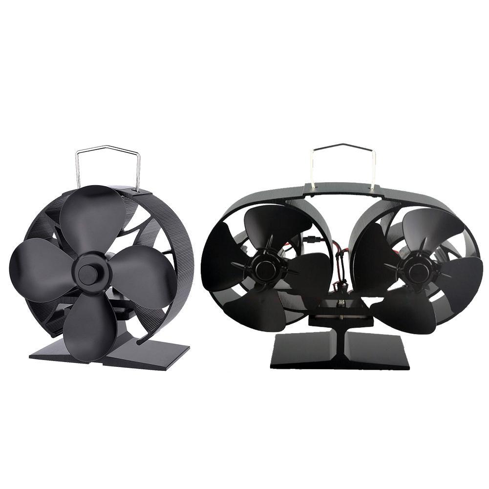 New Hot Power Heat Furnace Fireplace Fan Heating Fan Heat Powered Stove Fan Home Decorative Fireplace Chimenea Decorativa New