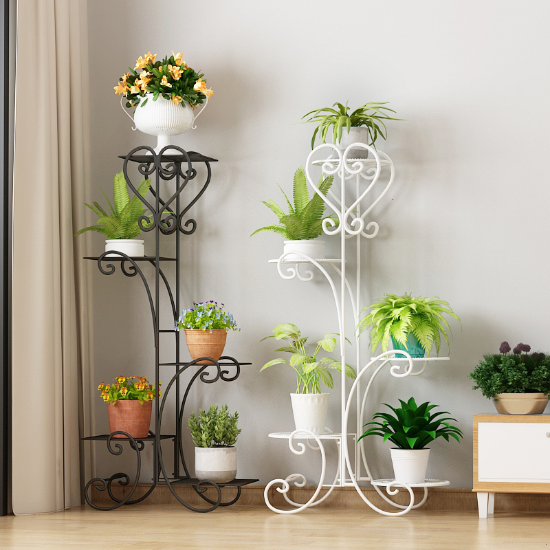 Multi-storey Shelf  Flowerpot Frame Balcony Interior Decoration Northern Europe Type Flower Airs