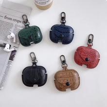 Funda de lujo de piel de cocodrilo para Airpods 3, funda protectora para auriculares, accesorios para Airpods 3