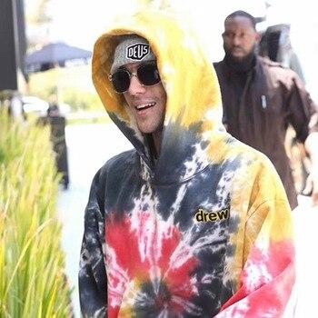 2019 Justin Bieber Drew House Drew Embroidery Women Men Hooded Sweatshirts Hoodie Hiphop Oversized Men Hoodie Pullover фото