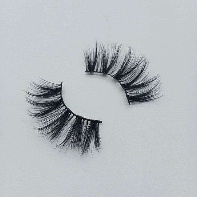 Natural silk eyelashes fake lashes long makeup 25mm eyelash for beauty 3