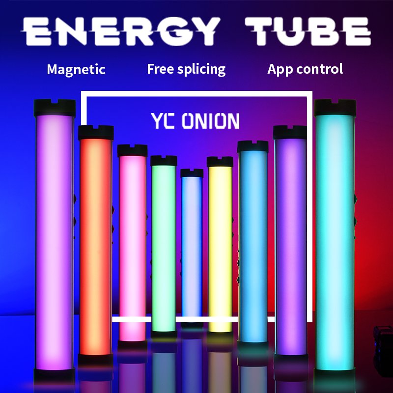 YC Onion Handheld Led Video Light App Control Photography Tube Lamp Photo Studio RGB Adjustable Color Temperature 3200K-6200K