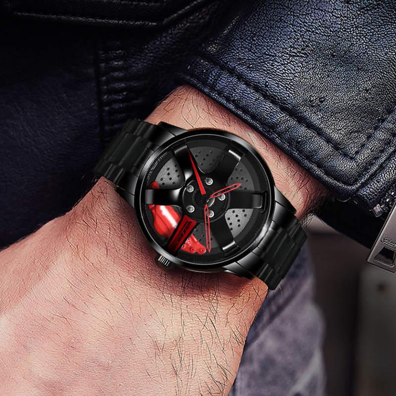 NIBOSI Wheel Rim Hub Watch Custom Design Sport Car Rim Watches Waterproof Creative Relogio Masculino 2020 Watch Man Wrist Watch 5