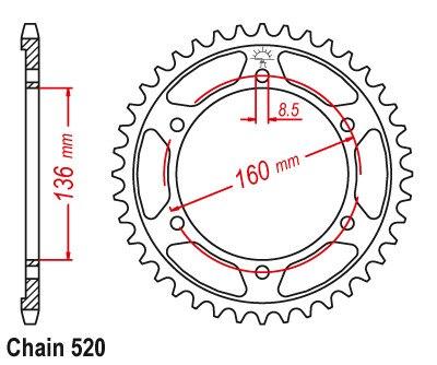 520 engrenagem da roda dentada motocicleta 02