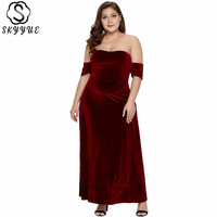 Skyyue Evening Dress Elegant Strapless Women Party Dresses 2019 Plus Size Robe De Soiree Sleeveless Formal Evening Gowns T014