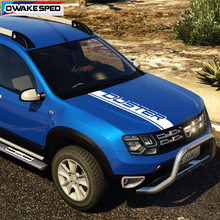 Для Dacia Renault Duster авто капот спортивные полосы автомобиля Стайлинг крышка двигателя капот Декор наклейки Авто экстерьер виниловые наклейки